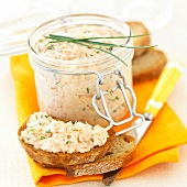 Potted salmon with chives