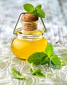 Small bottle of mint oil
