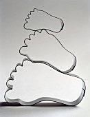 Foot-shaped biscuit cutters
