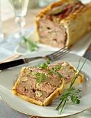 Duck and hazelnut crust paté