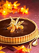 chocolate and physalis tart