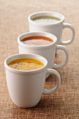 Assorted creamed soups