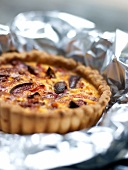 Eggplant,tomato and bacon tartlet
