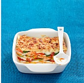 Salmon and vegetable lasagnes