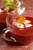 Crimson beetroot soup