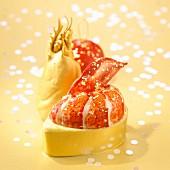 Hummer mit Goldblatt