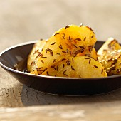 Iced pears with caraway
