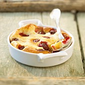 Griotte sour cherry batter pudding
