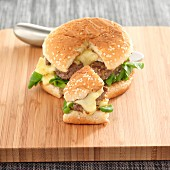 Camembert and ginger cheeseburger