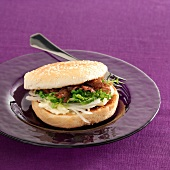 Conserved duck burger