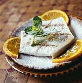 Filo pastry crepe suzette