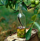 Green walnut liqueur
