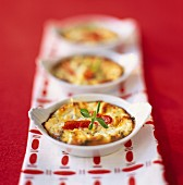 Tomato and goat's cheese flans