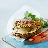 Fourme d'ambert, pear and walnut toasted sandwich