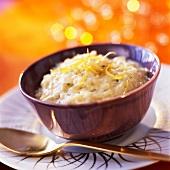 Lemon-flavored risotto
