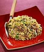 Millet and oxtail salad