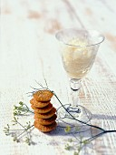 Fennel granita with crispy anis seed cookies