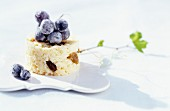 Rice pudding with grapes and raisins