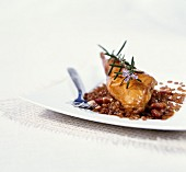 Rabbit in a beer sauce with spelt