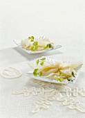 Scallop carpaccio with Beaufort cheese