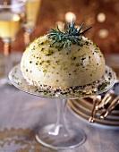 Lavander and pistachio Bavarian
