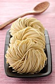 Uncooked Chinese noodles