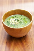 Zucchini and broccoli soup with Fromage frais