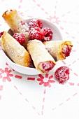Raspberry and white chocolate nems