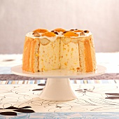Apricot and almond Charlotte