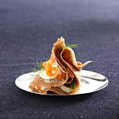 Buckwheat pancake with smoked salmon and Fromage frais