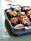 Gefüllte Aubergine mit Tomaten