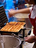 Cooking waffles