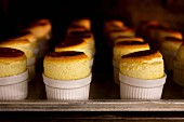 Cooking Grand-Marnier soufflés in the oven