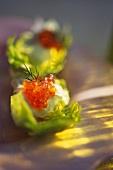Avocadopüree mit Forellenkaviar