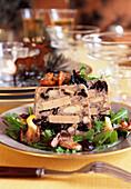 Foie gras and mushroom terrine