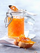 Pink grapefruit,ginger and honey jam