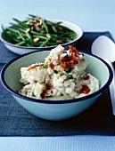 Creamy potato and scallion salad