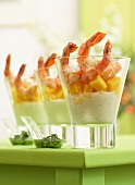 Shrimp and mango Verrine