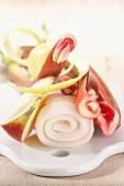 Zutaten für Steinbutt mit Pink Lady Apfel und Rhabarber