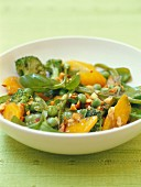 Vegetable fricassée with walnut oil