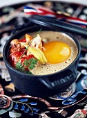 Coddled egg with lobster
