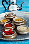 Tray of spices