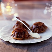 Tatin-style apple and chestnut cookies