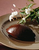 A chocolate dumpling with Jasmine