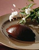 A chocolate dumpling with Jasmine