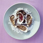 Austern mit Mignonette-Sauce
