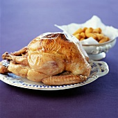 Roast chicken with sauteed potatoes