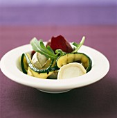 Roast zucchinis with goat's cheese