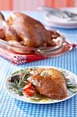 Roast leg of chicken