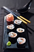 Salmon and cep makis